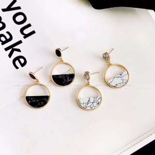 Marble Earrings in stock