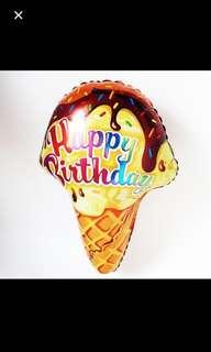 Happy birthday ice cream balloon