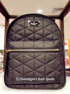 🔴ANY REASONABLE PRICE➡️FOLLOWERS ONLY (Chat now)🔴✖PRICE NOT APPLICABLE to Non-follower to suggest✖👜AUTHENTIC BRAND NEW+RECEIPT🌹LIMITED EDITION🌹👜Kate Spade Black Quilted Backpack Bag (Spacious+zip closure)💋No Pet No Smoker CLEAN hse💋