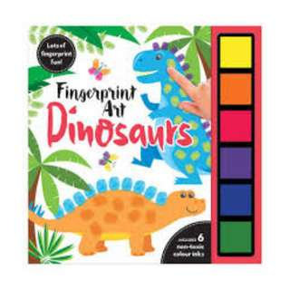 BN  Fingerprint Art Dinosaurs
