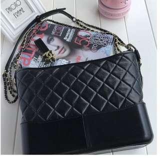 Chanel Black Leather Gabrielle Large