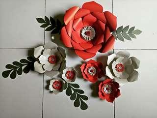 Paperflowers Backdrop/Bunga Kertas Murahh