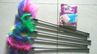 5pcs Cat Toy Feather Teaser #20under