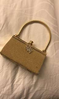 Gold Color purse brand new never used