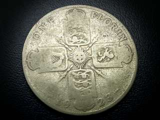 1923 Silver Florin from Great Britain King George V