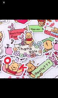 Pooh bear stickers for diary/memo etc