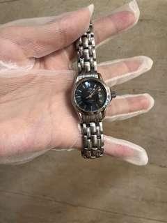 歐米茄女錶黑色表盤帶日歷