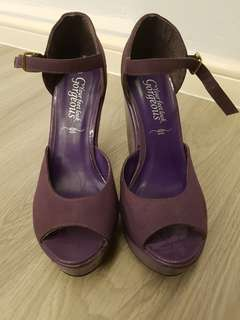 New look Purple high heel/wedges