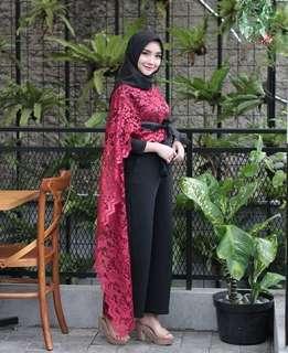 Cape burka maroon