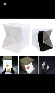 White Light Room Photo Studio Photography LED Lighting Tent Kit Backdrop Cube