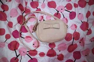Sling bag wanita pink