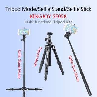 KINGJOY SF058 LIGHTWEIGHT 3-IN-1 TRIPOD KIT