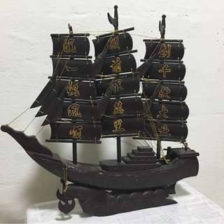Antique Chinese Ship Display