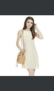 BN Theclosetlover Beau Swing Dress In Pale Daffodil(With Tag)