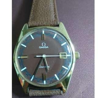 60年代 Omega Geneve 上鍊日曆男裝錶