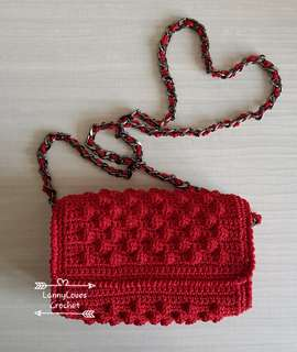 Crochet Bag - Sexy Red