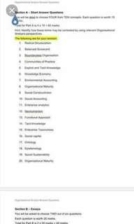 BUSM1100 Organisational Analysis