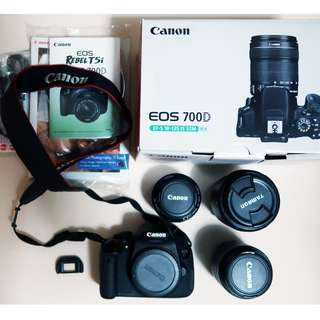 (RUSH) Preloved Canon 700D with Tamron 18-250 and Canon 18-55 Lens