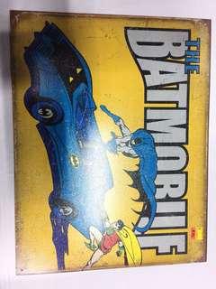 Batmobile plate tin poster