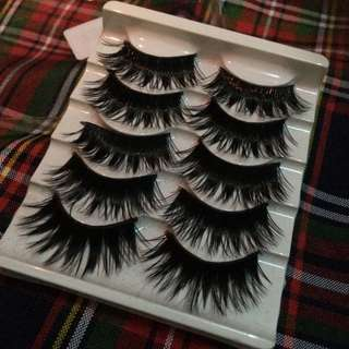 5pcs Soft False Eyelashes
