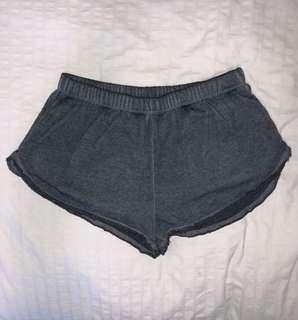 Dark grey booty shorts