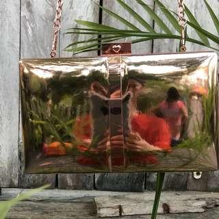 Aldo rose gold sling bag