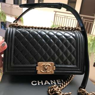 CHANEL LE BOY BAG 25cm