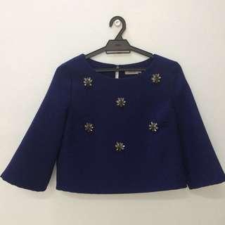 Zalia crop top blouse