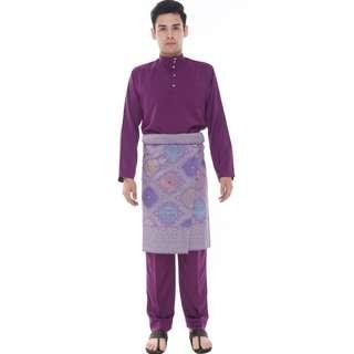 Baju Melayu Classic (Dark Purple - AA1013BM)