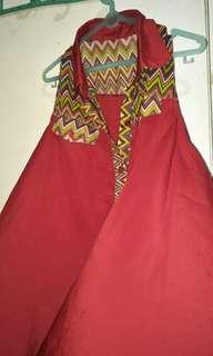 Baju dayak merah