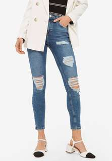 topshop jamie super ripped jeans