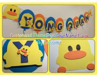 Customized Cake Toppers / cupcake Toppers / Name Banner