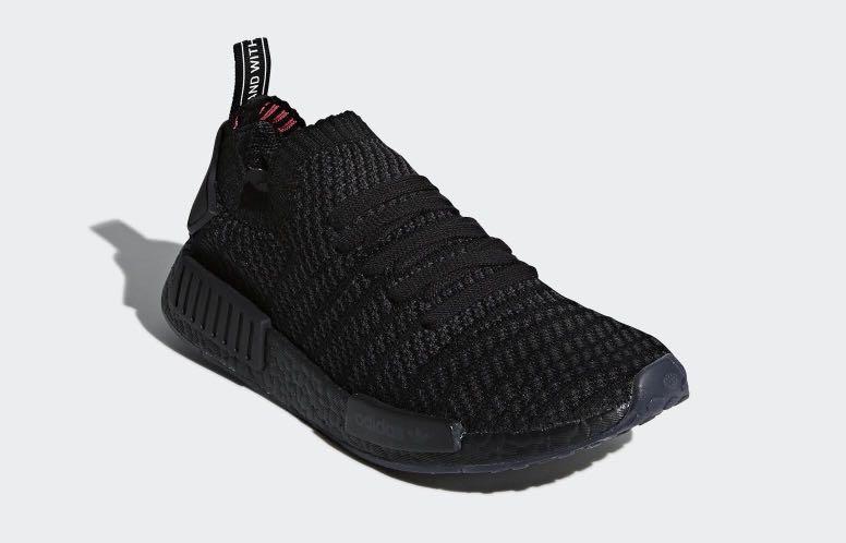 3ea38b20bb75 Adidas NMD R1 STLT PK Triple Black
