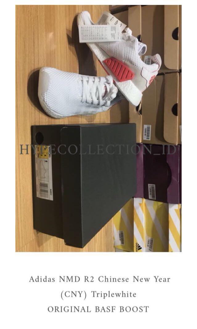 9e35f2169 Adidas NMD R2 (CNY) Chinese New Year Triplewhite ORIGINAL BASF BOOST ...