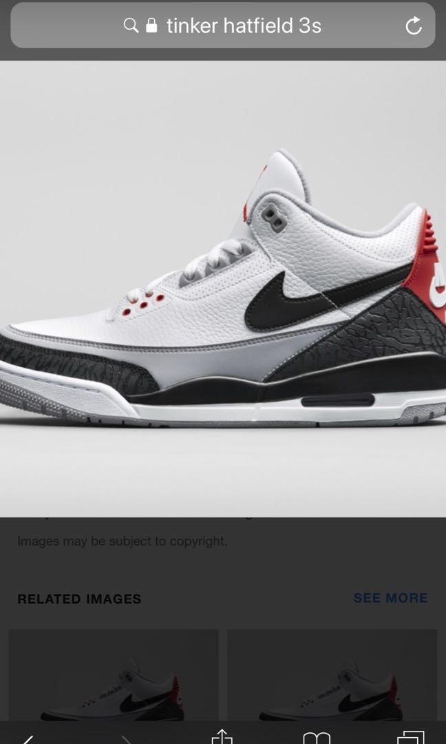 buy online ef674 57ad1 Air Jordan 3 Tinker Hatfield size 9 US local receipt, or for trade with  Jordan 1 Black Toe size 9 or 9.5 US