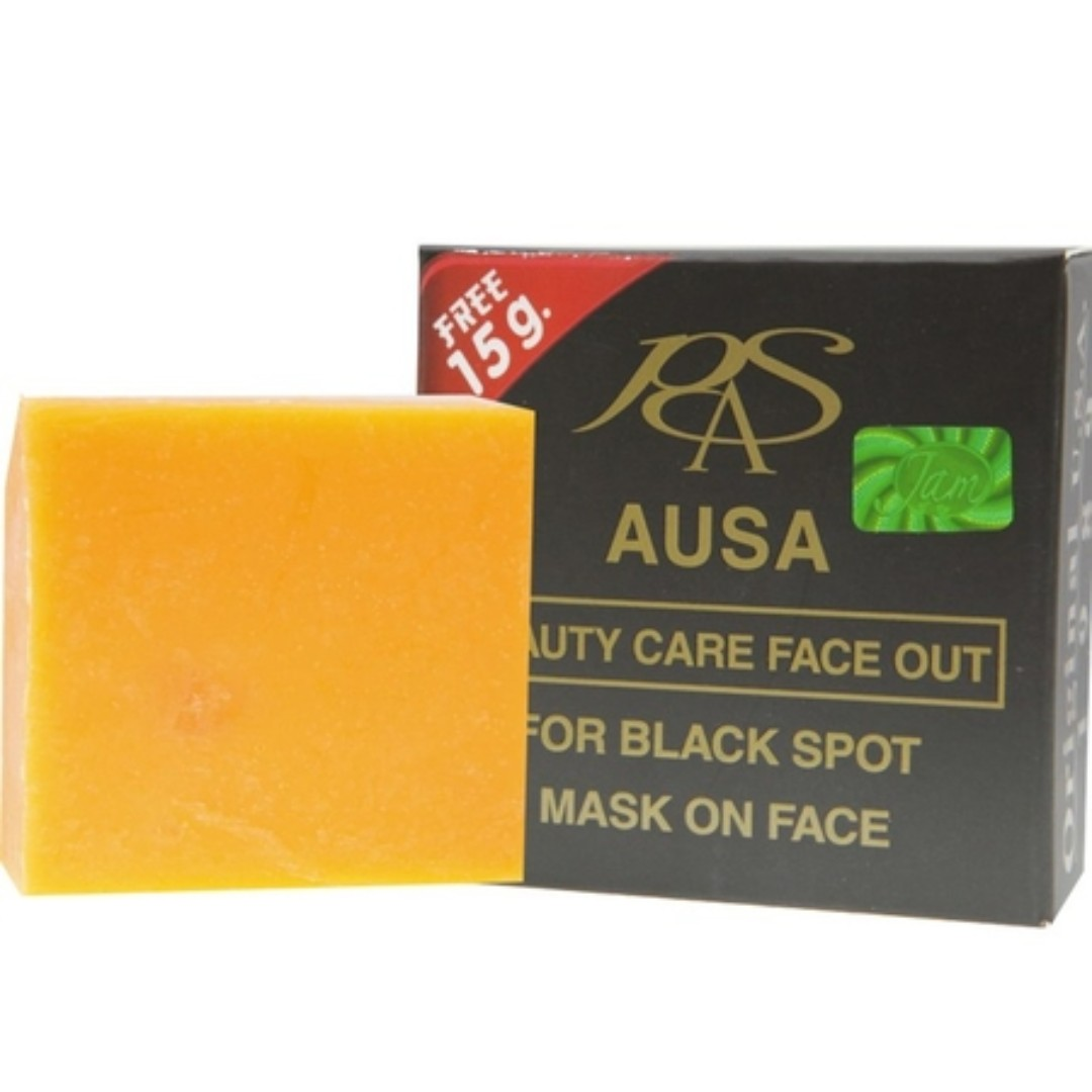 AUSA Herbal Soap 100% For Black Spot Mask on Face 65 g on
