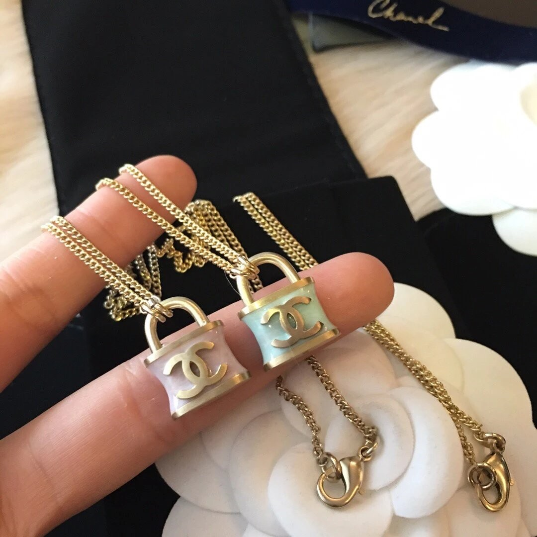 Chanel Lock Necklace Luxury Accessories On Carousell