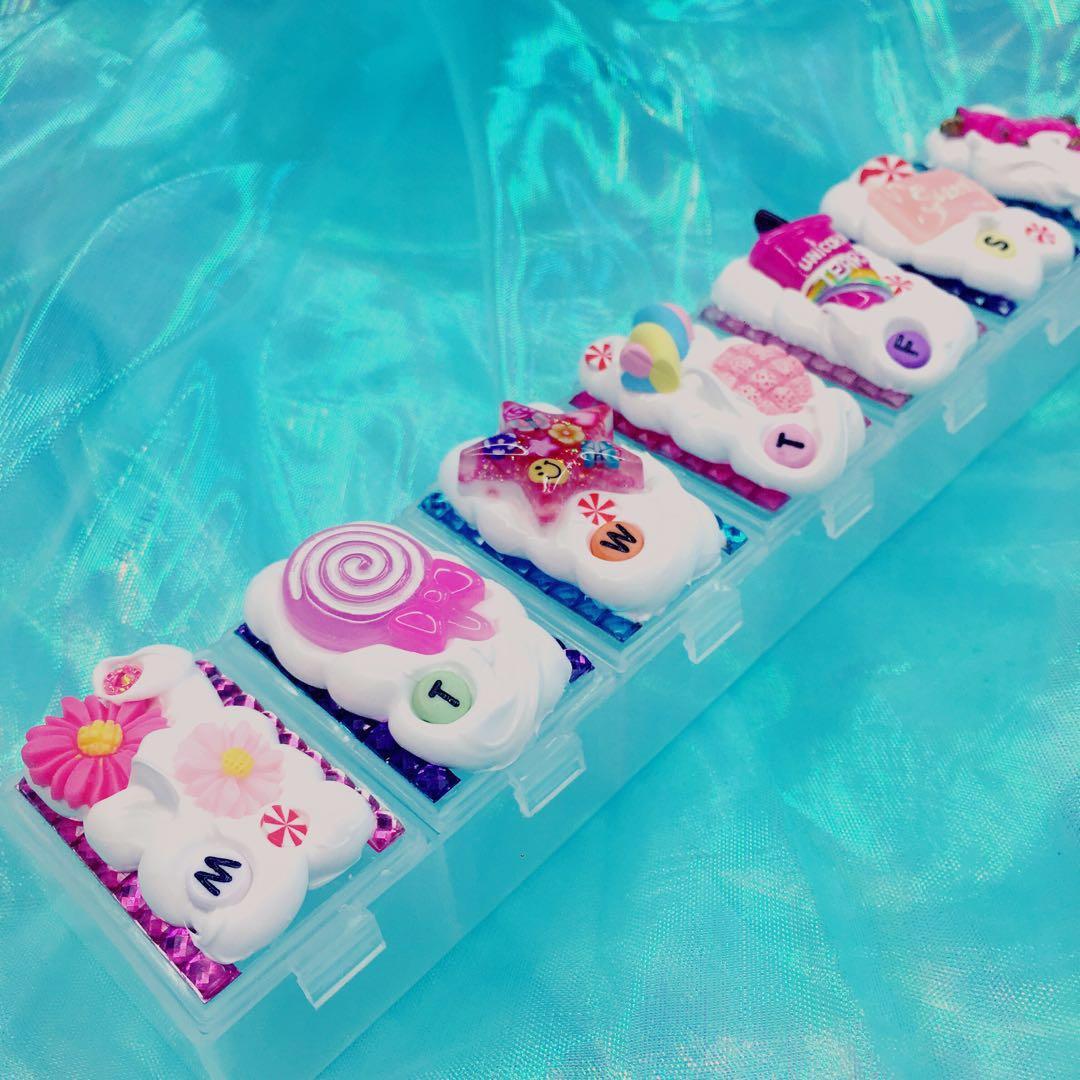 Cute Large Pill Case 🍭 by kiaorakawaii