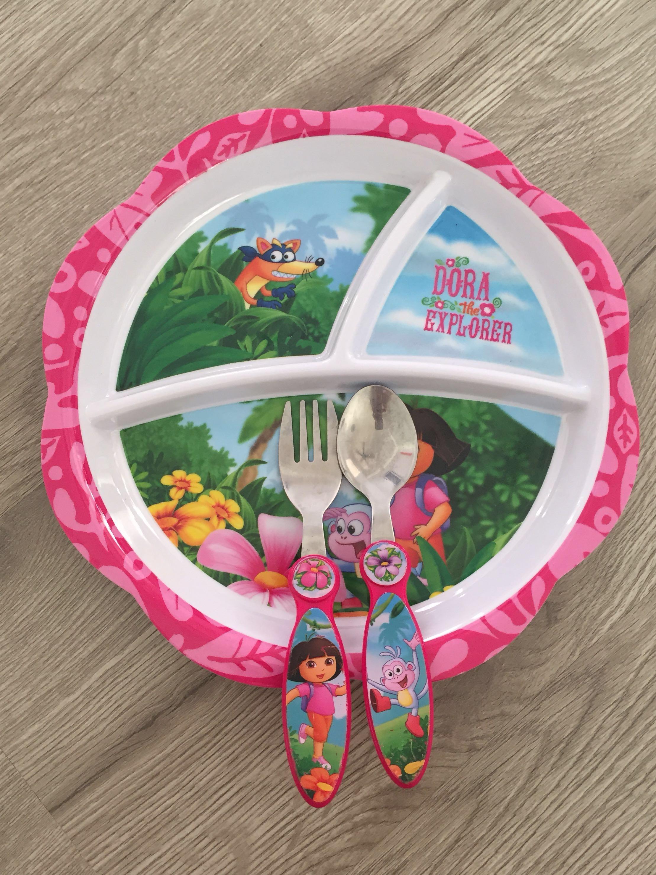photo photo ... & Dora the Explorer Plate Set #20under Kitchen u0026 Appliances on Carousell