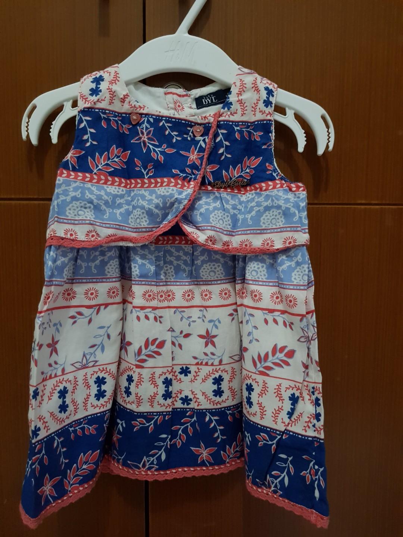 Dress baby size 12-18 bulan