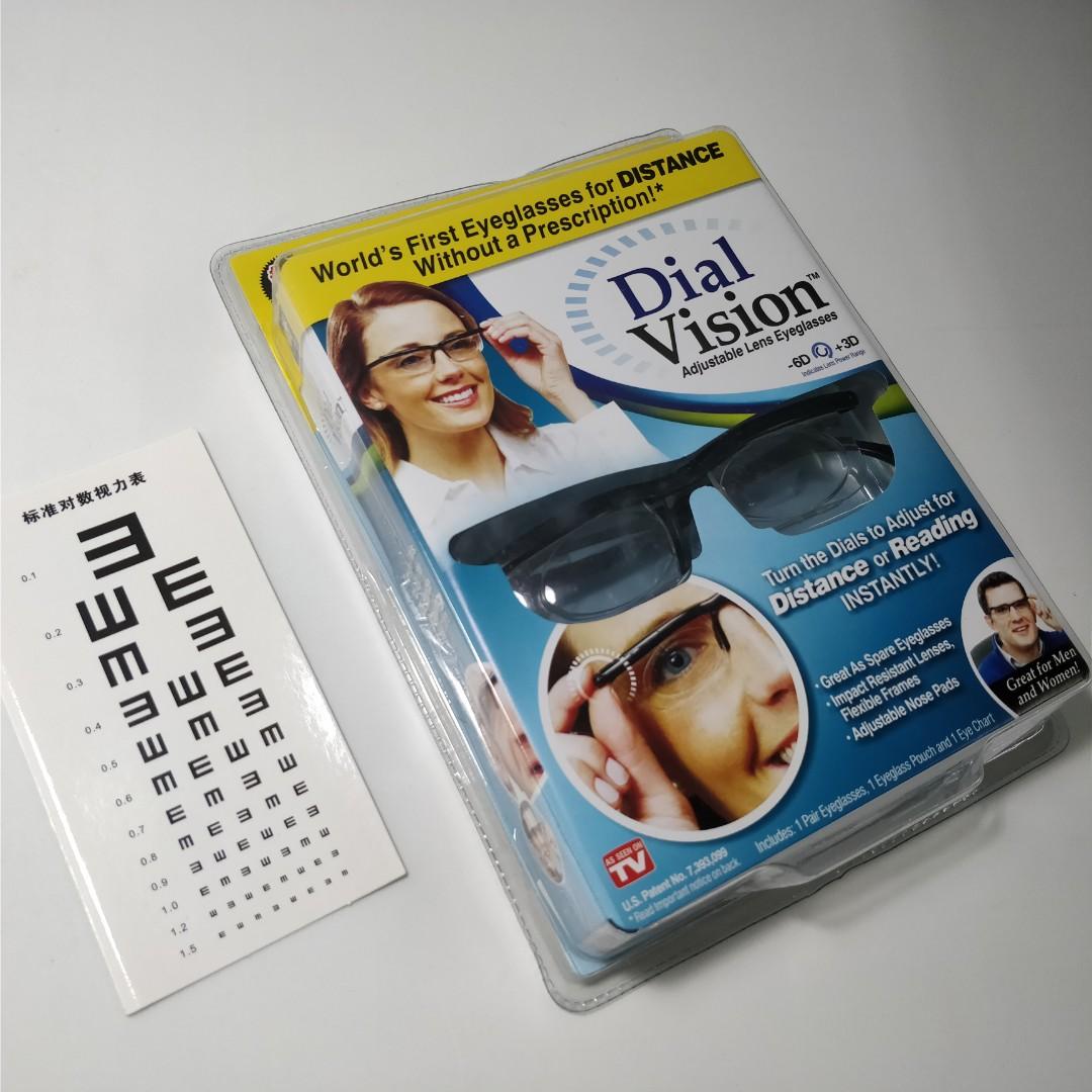 Eyeglasses For Distance Dial Vision Adjustable Lens Eye Glasses Nosepad Slide In Rumah Paten Health Beauty Bath Body On Carousell