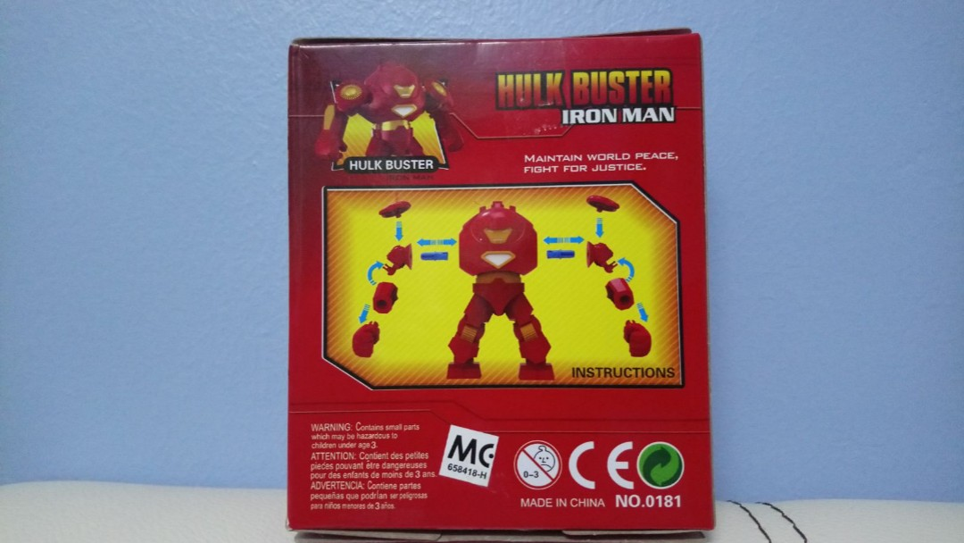 Ironman Hulk Buster Toys Games Bricks Figurines On Carousell
