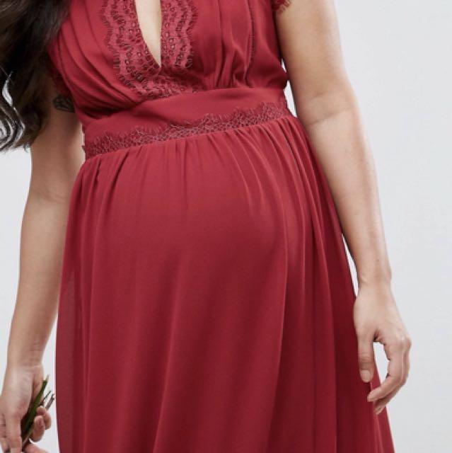 8f26964c31cc3 Maternity Wear Rental! TFNC Maternity Wedding Lace Detail Maxi Dress,  Women's Fashion, Clothes, Dresses & Skirts on Carousell