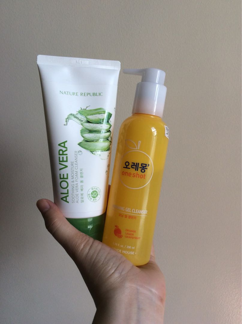 Nature Republic Aloe Vera Foam Cleanser And Etude House Morning Gel Secret Key Fresh Toner 248ml Health Beauty Skin Bath Body On Carousell