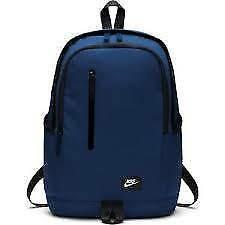 bfe6c2f785 New Nike backpack with laptop sleeve Blue BA4857-431