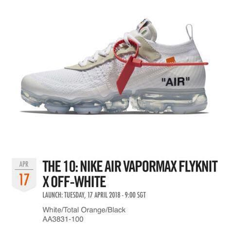 6c2051250dd OFF WHITE Nike Air Vapormax FlyKnit X