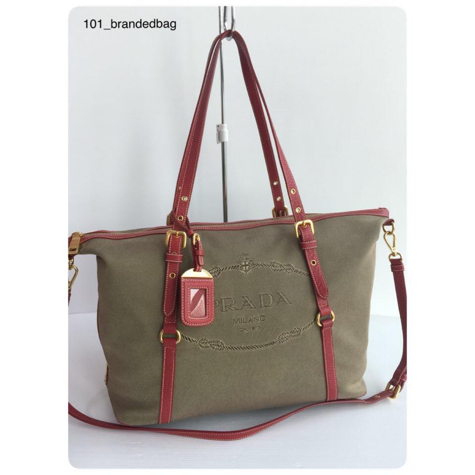79c7d2e5e4a2 Prada Jacquard Large Tote Bag