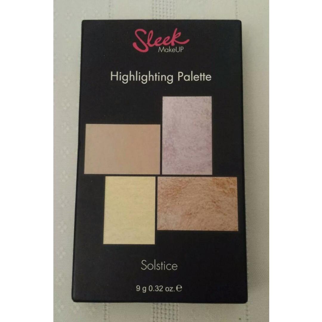 Sleek MakeUP Cream & Powder Highlighting Quad Palette  NEW + AUTH