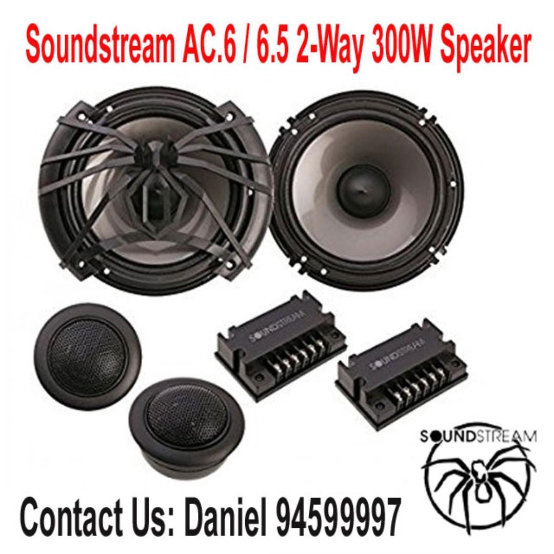Soundstream AC.6 Arachnid Component 6.5 2-Way 300W Speaker Set