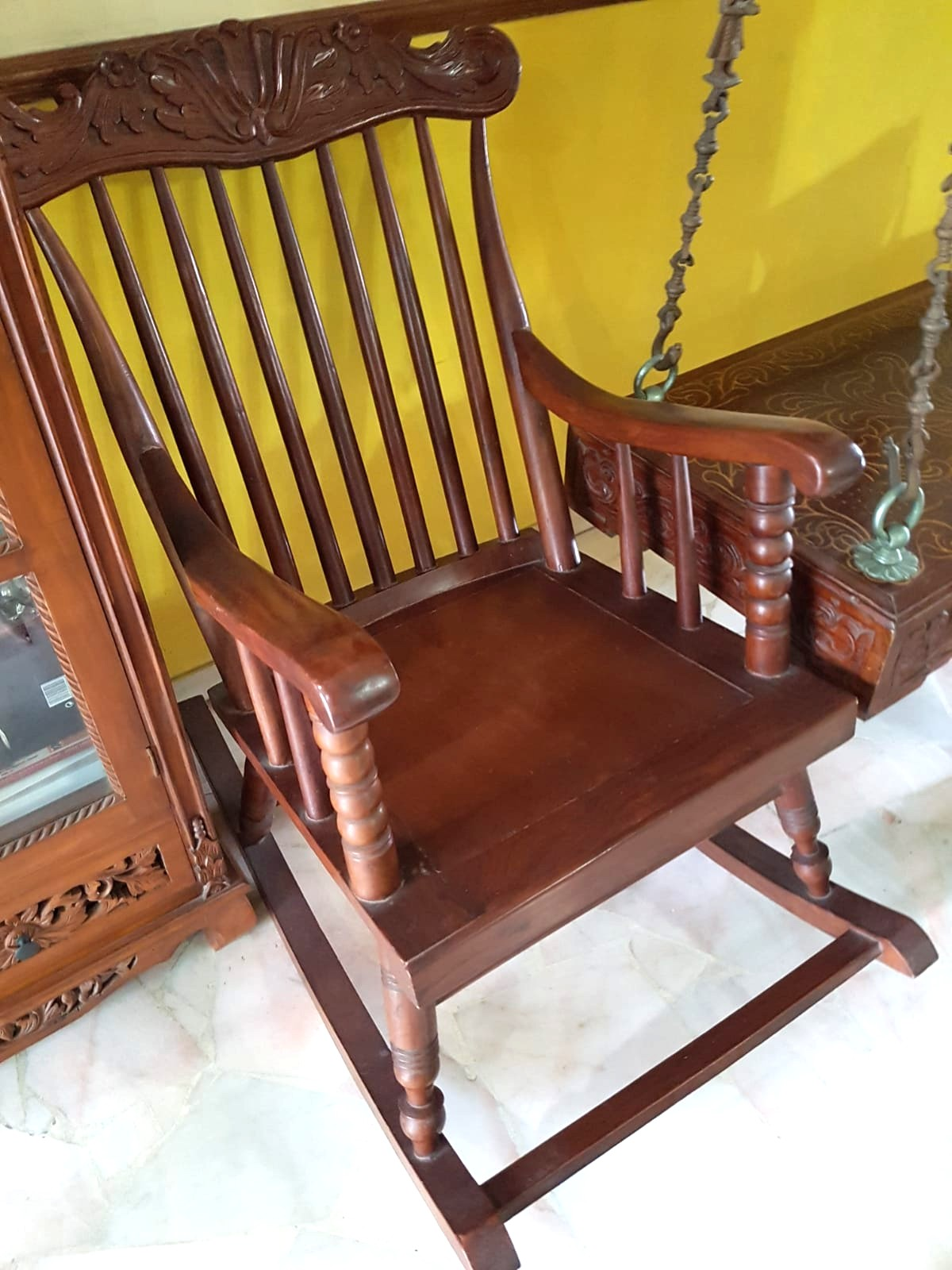 Teak Wood Chair Furniture Home Decor Antiques On Carousell